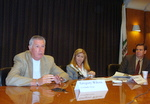 (l-r) Greg Wilcox, LA Daily News, Kate Berry, American Banker and John Corrigan, LAT