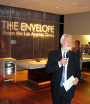 LA Times Publisher Eddie Hartenstein kicks of launch party of theenvelope.com n West Hollywood, CA.