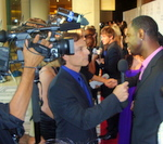 Brian McKnight, R&B singer on the red carpet at Noble Awards