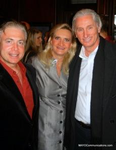 Image group shot of SPJ LA President Frank Mottek, Actor Robert Navi, Actress June Lockhart (RTNA Bd.) and George McQuade.(slide show at www.MAYOCommunications.com)