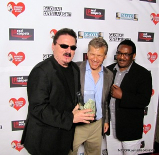 on the red carpet with Bobby Kimball, Brad Smulson and Ernie Singleton