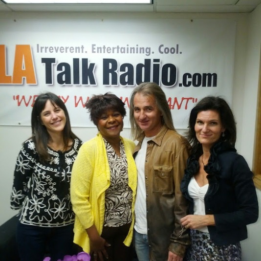 GROUP PICTURE OF BRACO AND VOLUNTEERS AT LA TALK RADIO