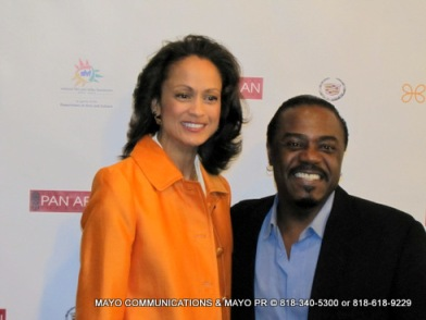 Anne-Marie Johnson on the red carpet