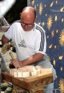baby boomer carving wood