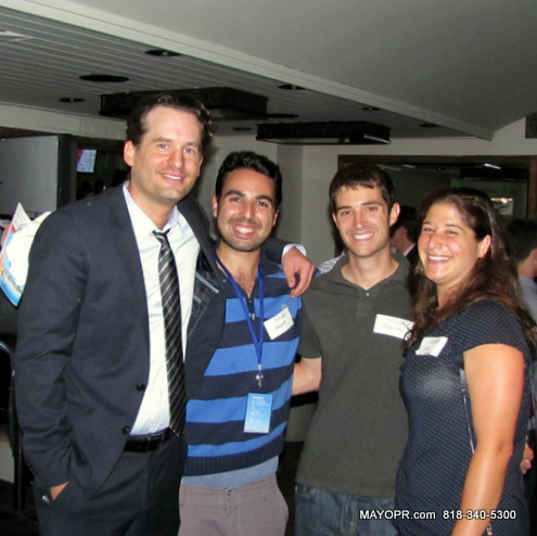 Founder Lucas Bean, #SiliconBeachYP, Payam Rodd, USC, Aaron and Lisa at monthly mixer  @ #MAKAI.