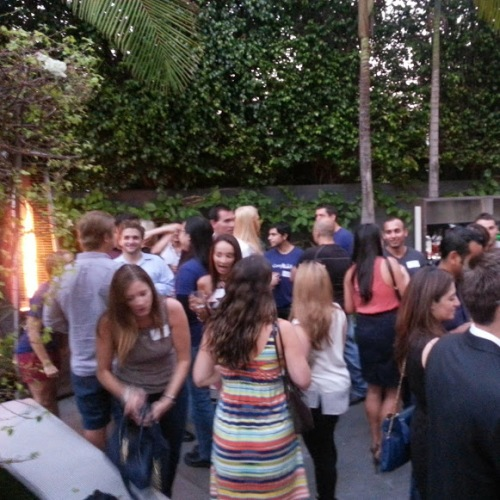 Some 650 young professionals attending the monthly meeting in Santa Monica on the night HYBORN Launches in LA. hyborn.com